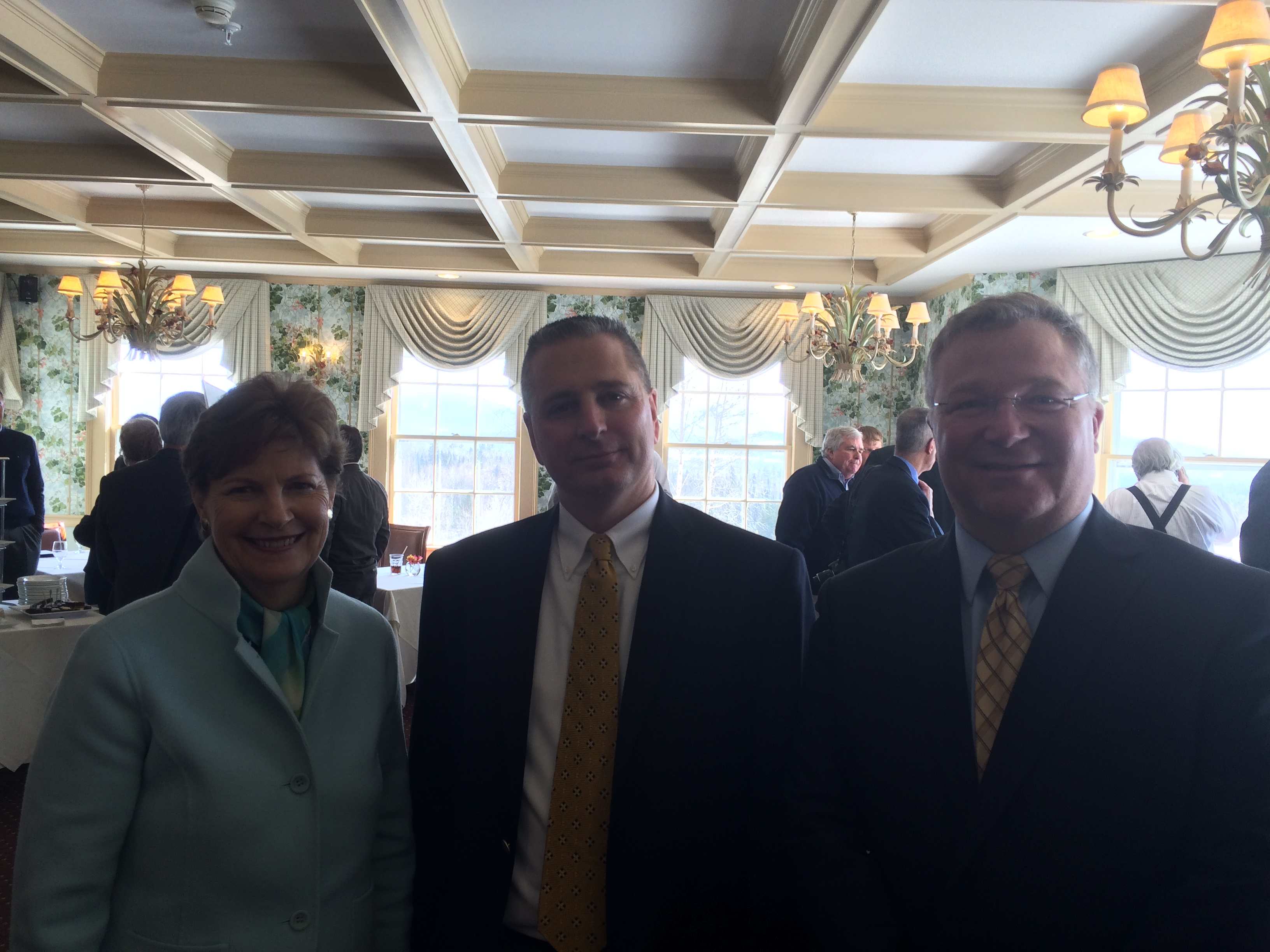 Federal Co-Chair Mark Scarano ® with US Senator Jeanne Shaheen and Coos Economic Development Council Exec Director