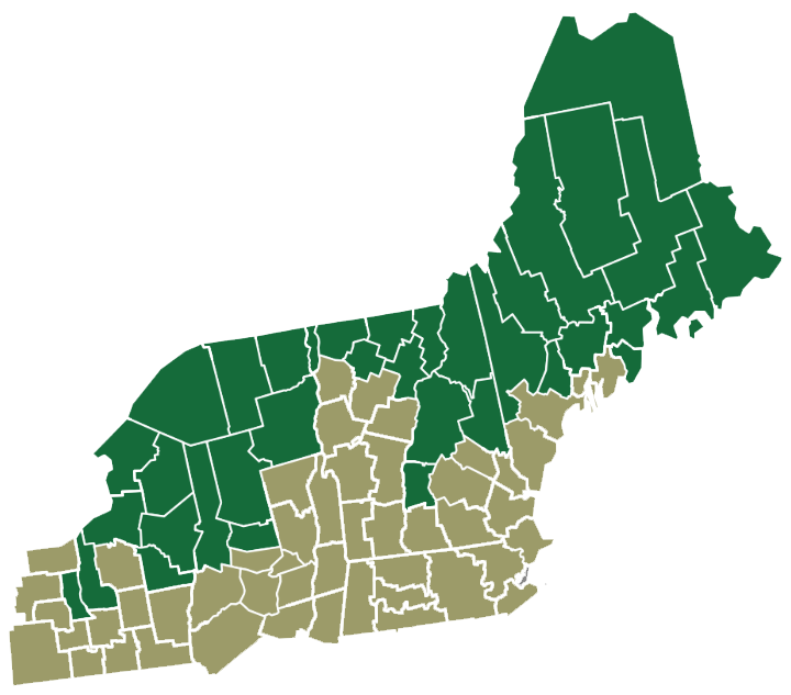 Map of NBRC Counties